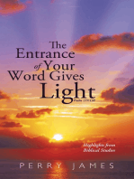 The Entrance of Your Word Gives Light Psalm 119:130