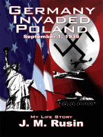 Germany Invaded Poland September 1, 1939