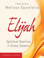 Elijah - Women's Bible Study Leader Guide