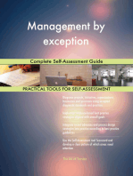 Management by exception Complete Self-Assessment Guide