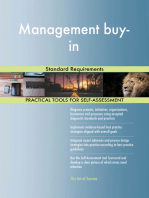 Management buy-in Standard Requirements