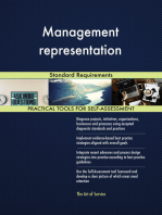 Management representation Standard Requirements