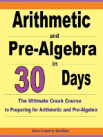 Arithmetic and Pre-Algebra in 30 Days