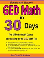 GED Math in 30 Days