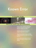 Known Error A Complete Guide