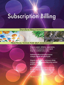 Subscription Billing Standard Requirements
