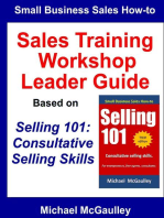 Sales Training Workshop Leader Guide for Selling 101