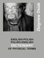 English-Polish and Polish-English Dictionary of Physical Terms