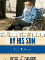 Reminiscences of Tolstoy by His Son