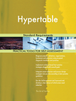 Hypertable Standard Requirements
