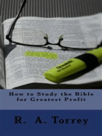 How to Study the Bible for Greatest Profit