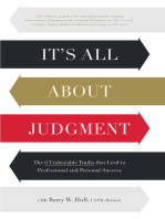 It's All About Judgment
