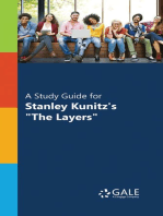 """A Study Guide for Stanley Kunitz's """"The Layers"""""""