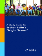 "A Study Guide for Esther Belin's ""Night Travel"""