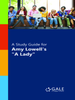 "A Study Guide for Amy Lowell's ""A Lady"""