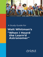 """A Study Guide for Walt Whitman's """"When I Heard the Learn'd Astronomer"""""""
