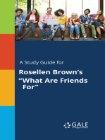 """A Study Guide for Rosellen Brown's """"What Are Friends For"""""""
