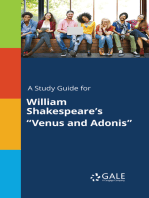 """A Study Guide for William Shakespeare's """"Venus and Adonis"""""""