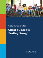 "A Study Guide for Athol Fugard's ""Valley Song"""