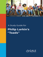 """A Study Guide for Philip Larkin's """"Toads"""""""