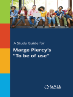 "A Study Guide for Marge Piercy's ""To be of use"""