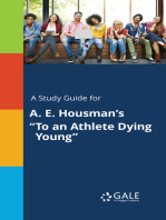 """A Study Guide for A. E. Housman's """"To an Athlete Dying Young"""""""