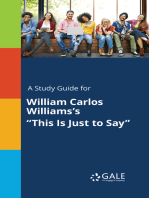 "A Study Guide for William Carlos Williams's ""This Is Just to Say"""