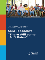 "A Study Guide for Sara Teasdale's ""There Will come Soft Rains"""