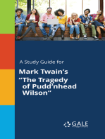"""A Study Guide for Mark Twain's """"The Tragedy of Pudd'nhead Wilson"""""""