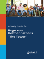"A Study Guide for Hugo von Hofmannsthal's ""The Tower"""