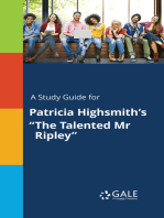 """A Study Guide for Patricia Highsmith's """"The Talented Mr Ripley"""""""