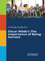 A Study Guide for Oscar Wilde's The Importance of Being Earnest