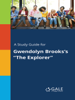 "A Study Guide for Gwendolyn Brooks's ""The Explorer"""