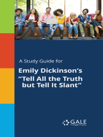 "A Study Guide for Emily Dickinson's ""Tell All the Truth but Tell It Slant"""