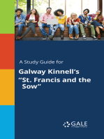 "A Study Guide for Galway Kinnell's ""St. Francis and the Sow"""