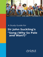 """A Study Guide for Sir John Suckling's """"Song (Why So Pale and Wan?)"""""""