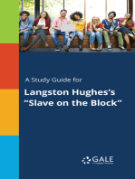"""A Study Guide for Langston Hughes's """"Slave on the Block"""""""