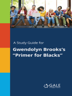 "A Study Guide for Gwendolyn Brooks's ""Primer for Blacks"""