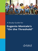 "A Study Guide for Eugenio Montale's ""On the Threshold"""
