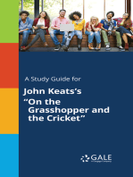 "A Study Guide for John Keats's ""On the Grasshopper and the Cricket"""
