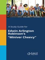 "A Study Guide for Edwin Arlington Robinson's ""Miniver Cheevy"""