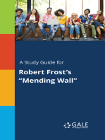 """A Study Guide for Robert Frost's """"Mending Wall"""""""