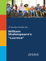 "A Study Guide for William Shakespeare's ""Lucrece"""