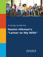 "A Study Guide for Nazim Hikmet's ""Letter to My Wife"""