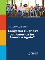 "A Study Guide for Langston Hughes's ""Let America Be America Again"""