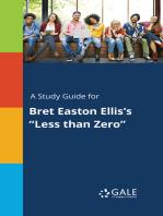 "A Study Guide for Bret Easton Ellis's ""Less than Zero"""