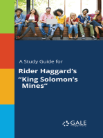 "A Study Guide for Rider Haggard's ""King Solomon's Mines"""