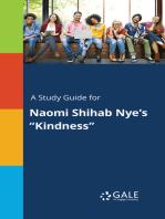 "A Study Guide for Naomi Shihab Nye's ""Kindness"""