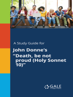 """A Study Guide for John Donne's """"Death, be not proud (Holy Sonnet 10)"""""""