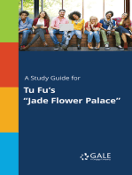 """A Study Guide for Tu Fu's """"Jade Flower Palace"""""""